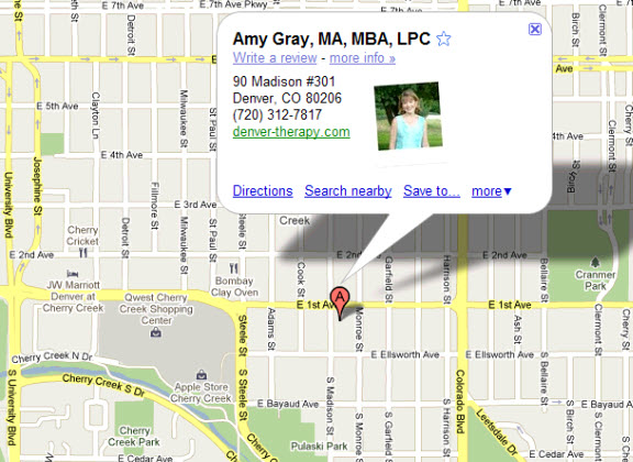 Directions to Amy Gray Family, Individual and Couples Counseling Practice